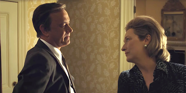 "Tom Hanks and Meryl Streep in Steven Spielberg's ""The Post"""
