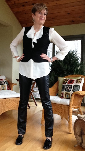 High Heels in the Wilderness: Dressing Down to Dress Up, black and white outfit