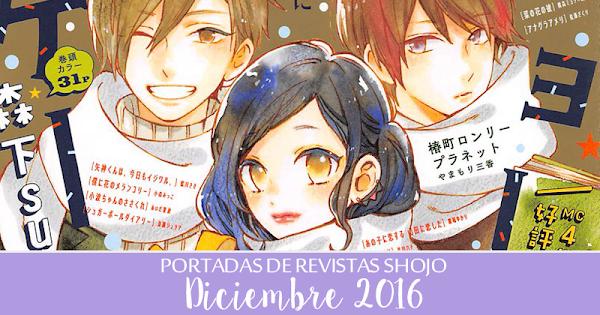 Portadas de Revistas Shojo: Diciembre 2016