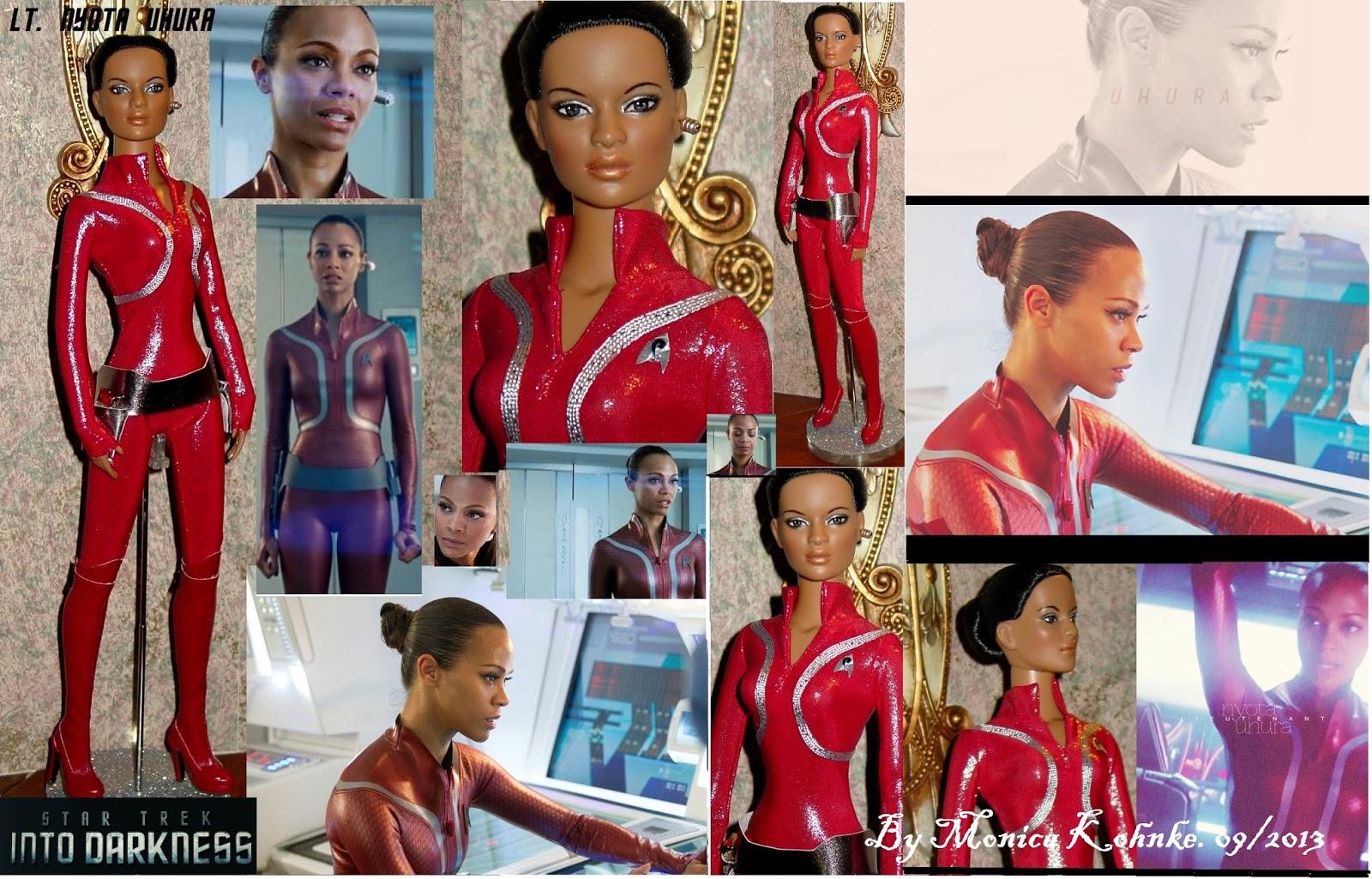 Monica K Star Dolls Uhura As Portrayed By Zoe Saldana In