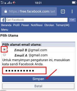 cara ganti email di facebook, cara ganti email fb, cara ubah email facebook, mengganti email facebook, mengubah email facebook