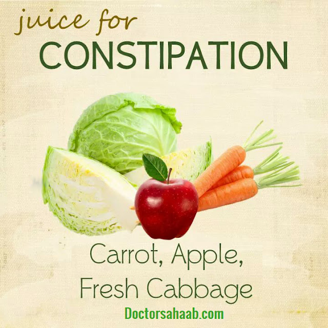 Juice for Constipation (Carrot+Apple+Fresh Carbbage)