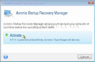 Acronis Startup Manager - Bootable সিডি ছাড়াই ইমেজ ক্রিয়েট ও রিস্টোর করুন