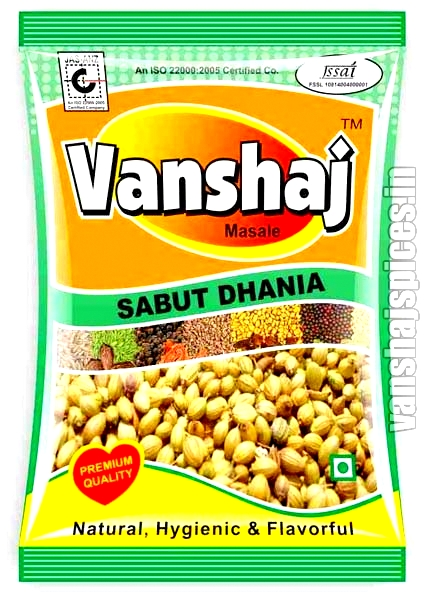 Coriander Seeds ( Sabut Dhania ) image of Vanshaj Spices.com