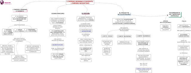 mappedsa mappa schema dsa dislessia disgrafia disturbi apprendimento bes impero romano d'oriente storia medie superiori cesaropapismo Giustiniano riconoquista