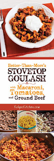 Better-than-Mom's Stovetop Goulash with Macaroni and Ground Beef found on KalynsKitchen.com