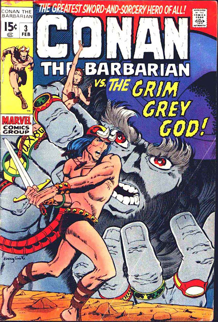Conan the Barbarian v1 #3 marvel comic book cover art by Barry Windsor Smith