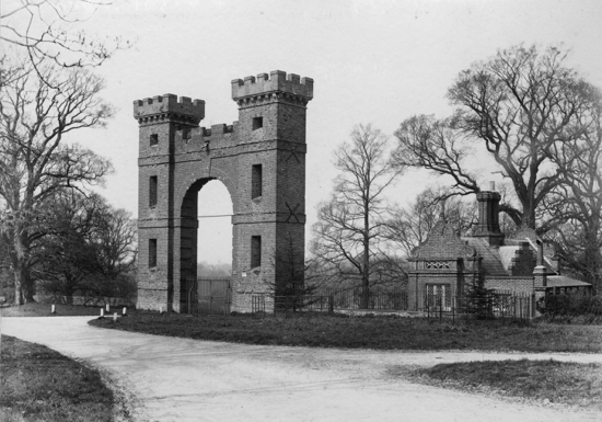 Photograph of Folly Arch, built about 1740. The Arch may have been designed by the famous architect James Gibbs (1682-1754). Photograph by Geo. Knott, 1896.