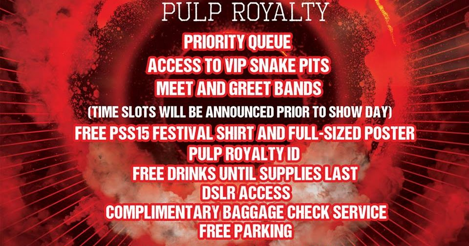 6d997302272c Pulp Summer Slam XV VIP Pulp Royalty Is Now Available