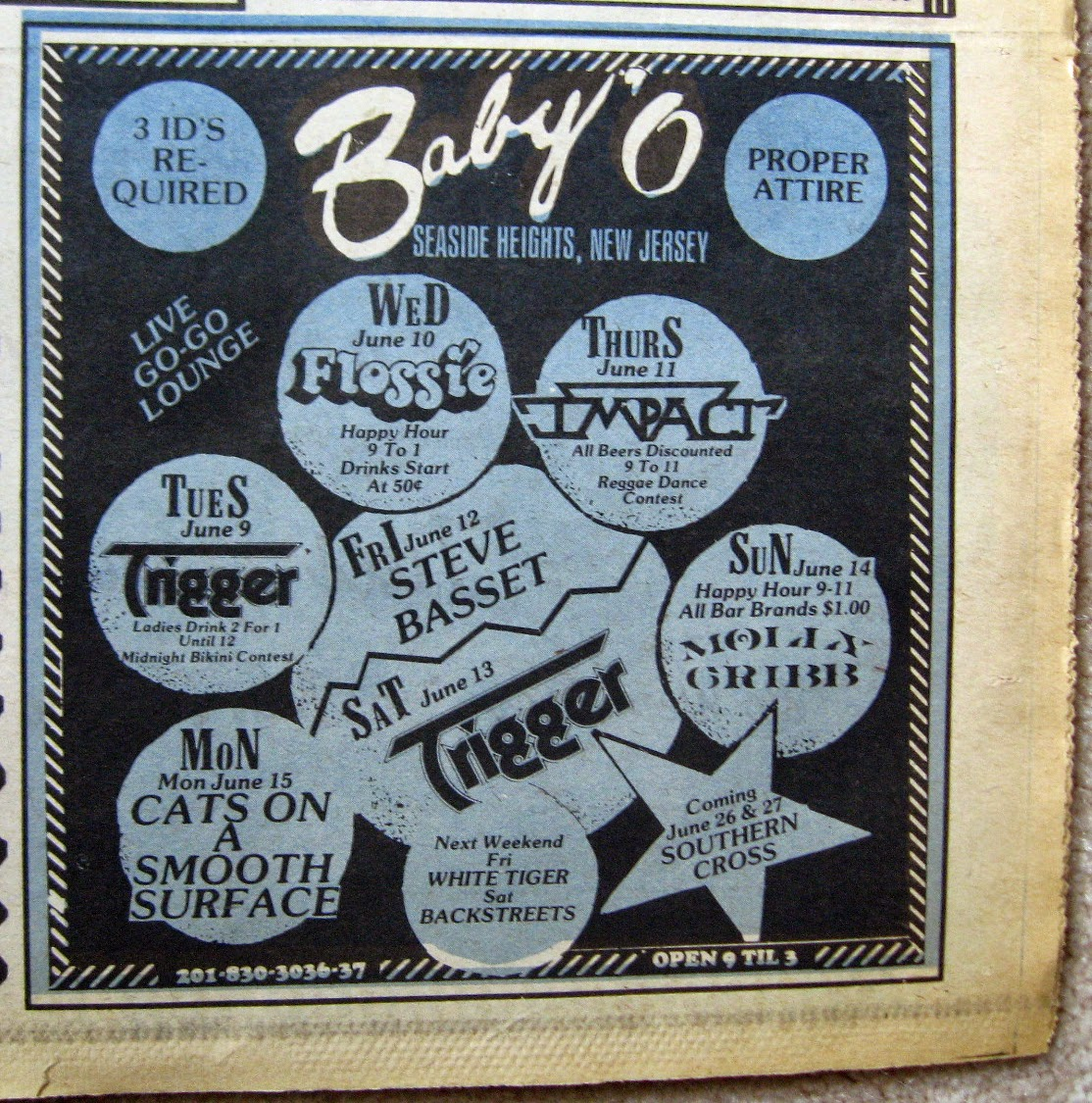 Baby 'O band line up 1981