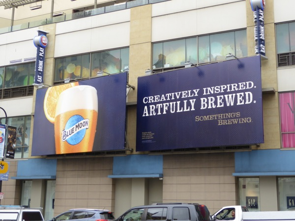 Blue Moon beer billboards