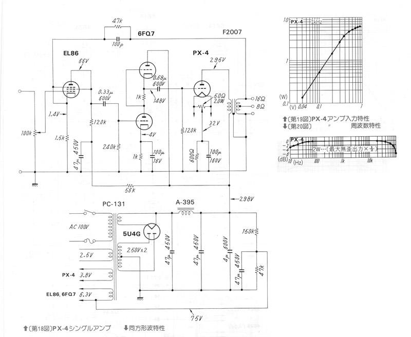 Vacuum Tube Schematics: SE PX4 (EL86-6FQ7) Amplifier