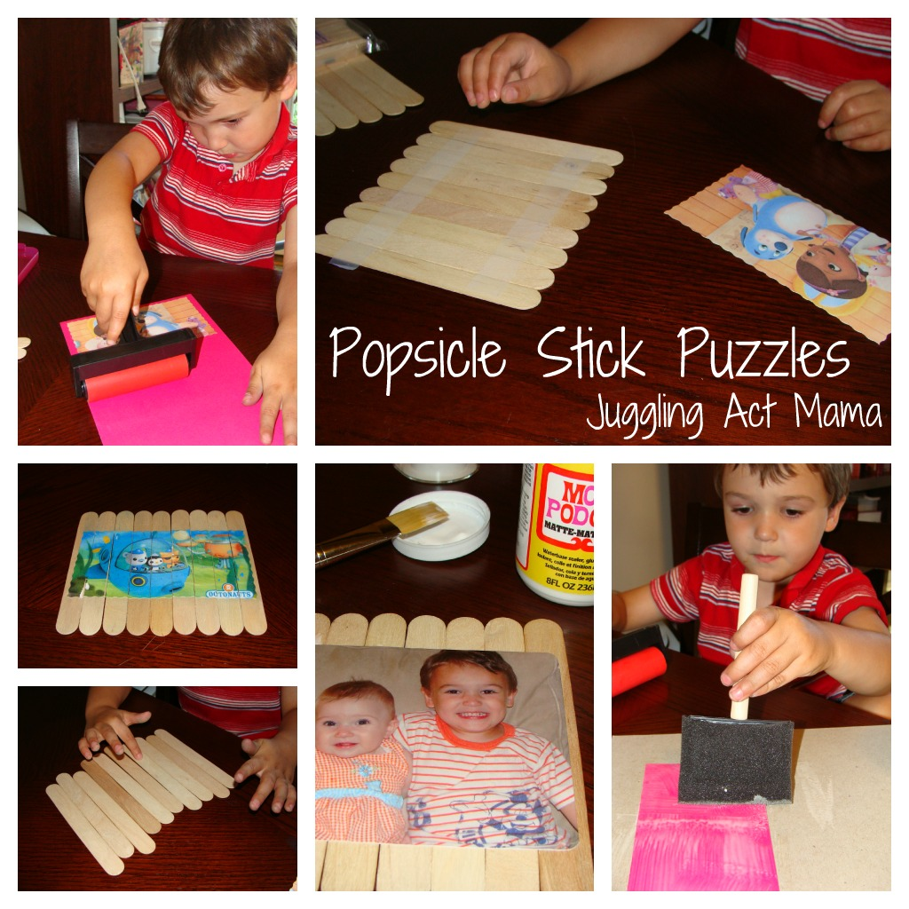 Popsicle Stick Puzzles - Juggling Act Mama
