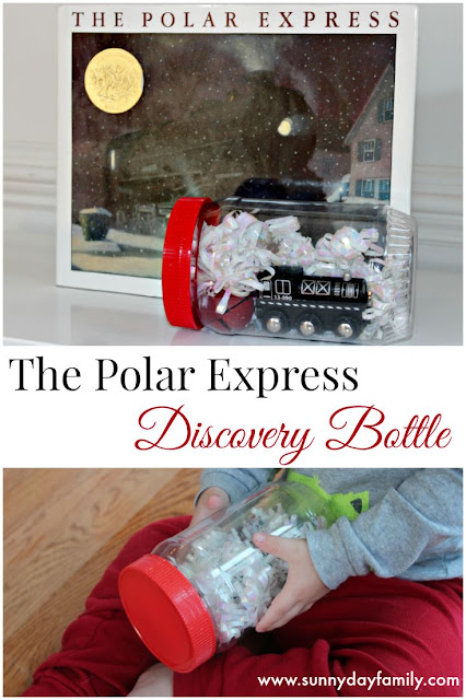 Discovery bottle based on The Polar Express! A perfect Christmas book activity for train lovers.