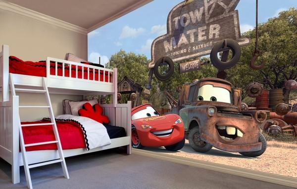 Tapetti Lastenhuoneeseen 3D Lasten Tapetti Disneyn Autot Disney Cars