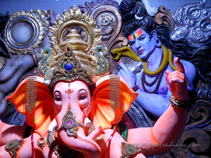 Ganapati and Shiva - Lord of the Ganas, Ganesh Chaturthi Festival Pandal, Mumbai