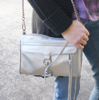 Away From Blue Blog | Rebecca Minkoff metallic silver mini MAC