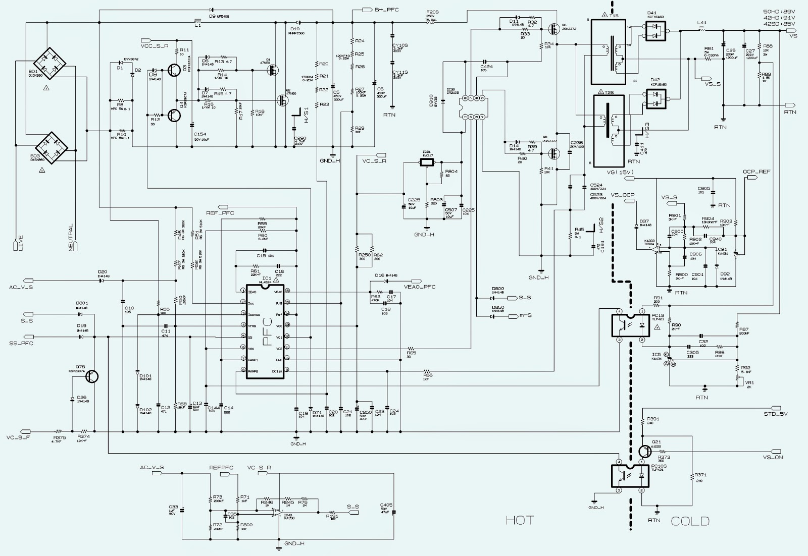 smps schematic click on the schematics to zoom in wiring diagram dat samsung b4k 5 bn96 [ 1600 x 1102 Pixel ]