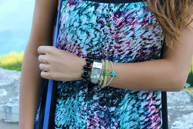 summer arm candy, bracelets and watch