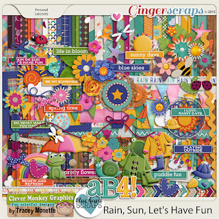 Rain, Sun, Let's Have Fun by Clever Monkey Graphics & Blue Heart Scraps