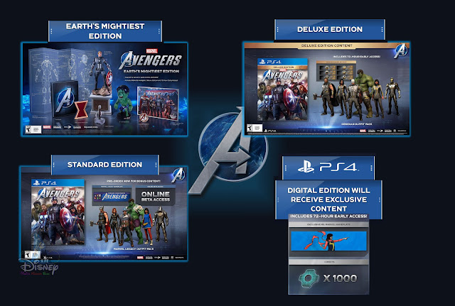 marvel's avengers war table news update pre-order earth's mightiest deluxe standard digital physical editions