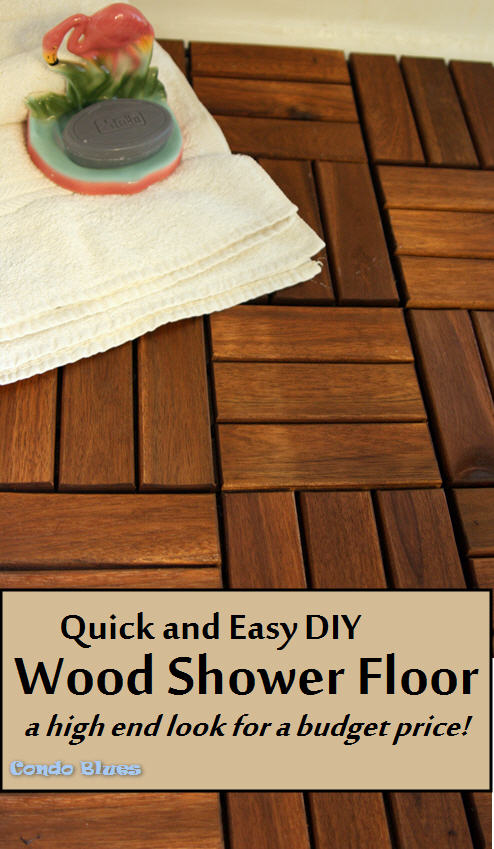Merveilleux ... Easy, And Split The Eco Friendly Middle IKEA Hack Away U2013 Install  Removable Outdoor Wood Deck Tile Over The Current The Shower Floor.
