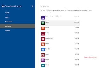 game dan file yang tersimpan di drive anda Cara Menghapus Aplikasi Bawaan Windows 8