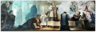 A Morte de São Luiz Gonzaga, Aldo Locatelli, Catedral de Novo Hamburgo (Mural)