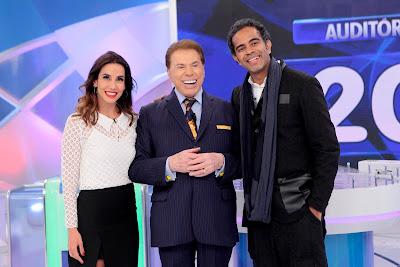 Tania, Silvio Santos e Jairzinho - Crédito: Lourival Ribeiro/SBT