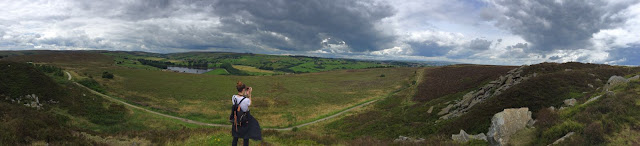Moody, panoramic view of Penistone Hill Country Park