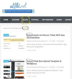 Cara Membuat Menu Blog Agar Sesuai Dengan Nama Label