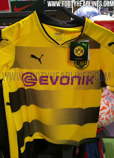 76dfe25a3 As always, black shorts and yellow socks will complete the fierce look of  the Borussia Dortmund 2017-18 home kit. The latter feature hoops, just like  the ...