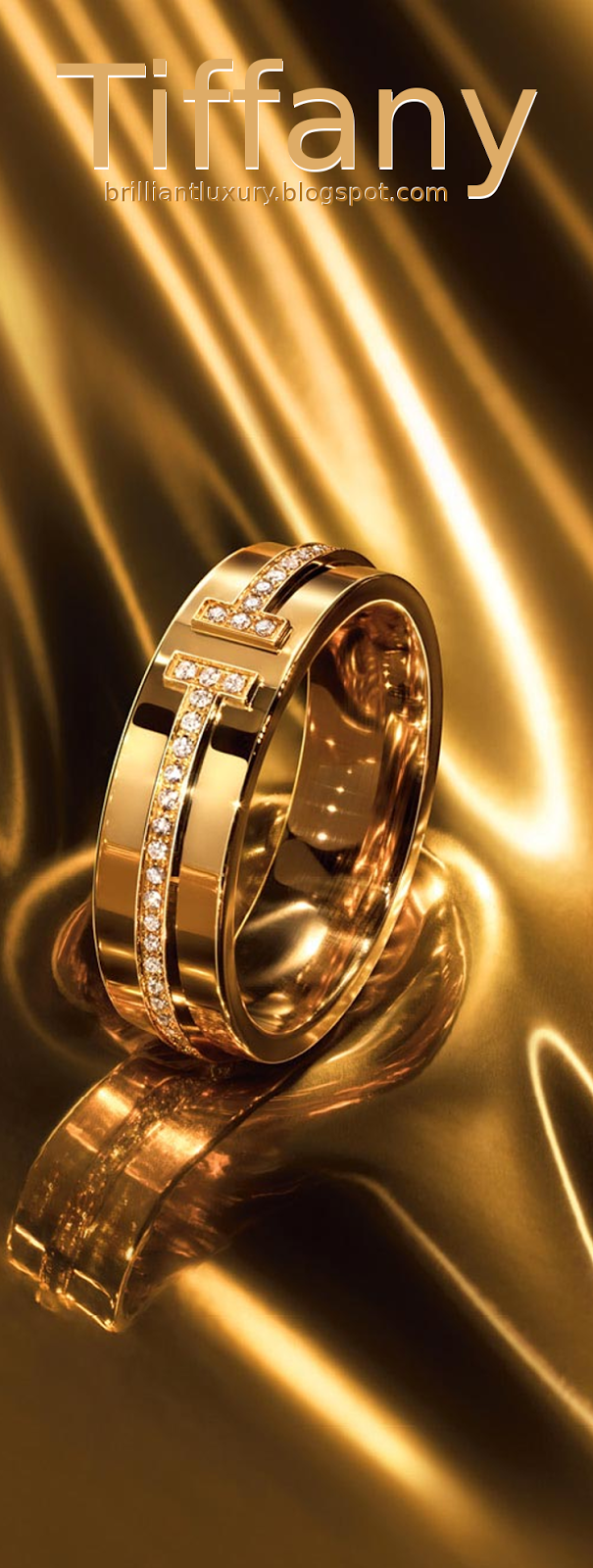 Brilliant Luxury ♦ Tiffany T two narrow ring