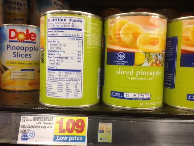 Sliced Pineapple - Kroger