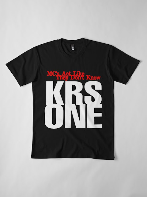 KRS ONE - MC'S ACT LIKE THEY DON'T KNOW TSHIRT (BLACK)