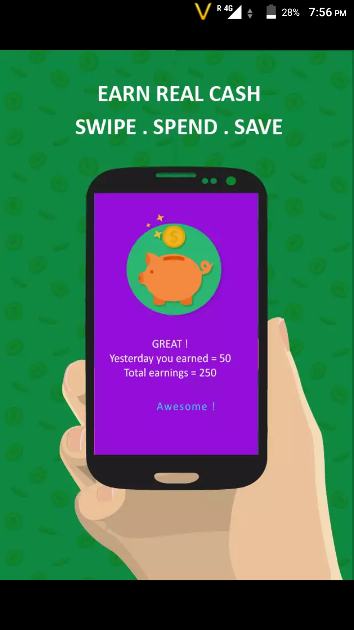 Phone How To Earn Money With Android Phone android mobile me screen unlock kare or paise kamaye how to earn piggybank pays you for having ads on your lockscreen free money add the coin into phone wa