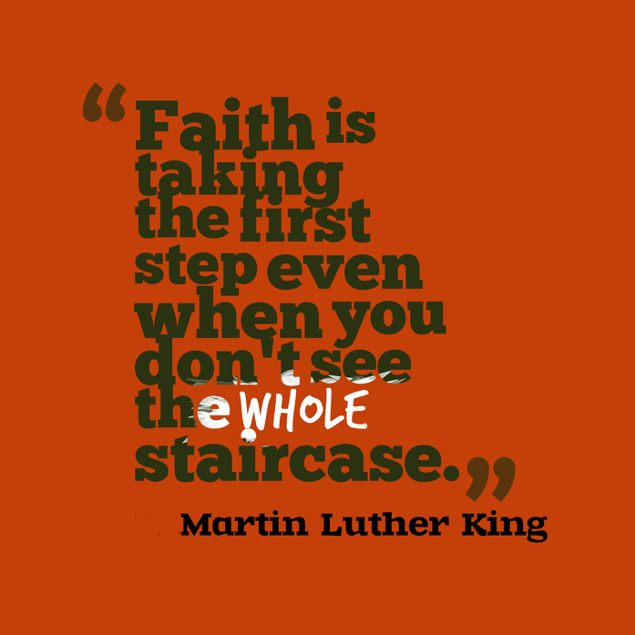 Inspiration from Martin Luther King