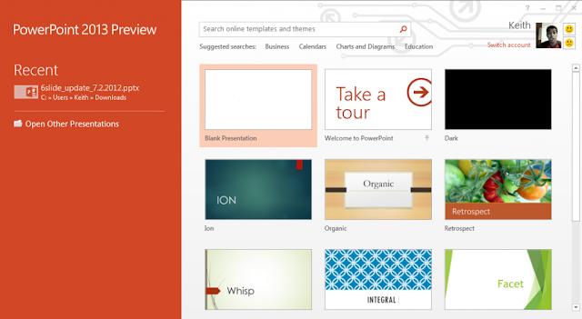 Microsoft Office PowerPoint 2013 Metro UI
