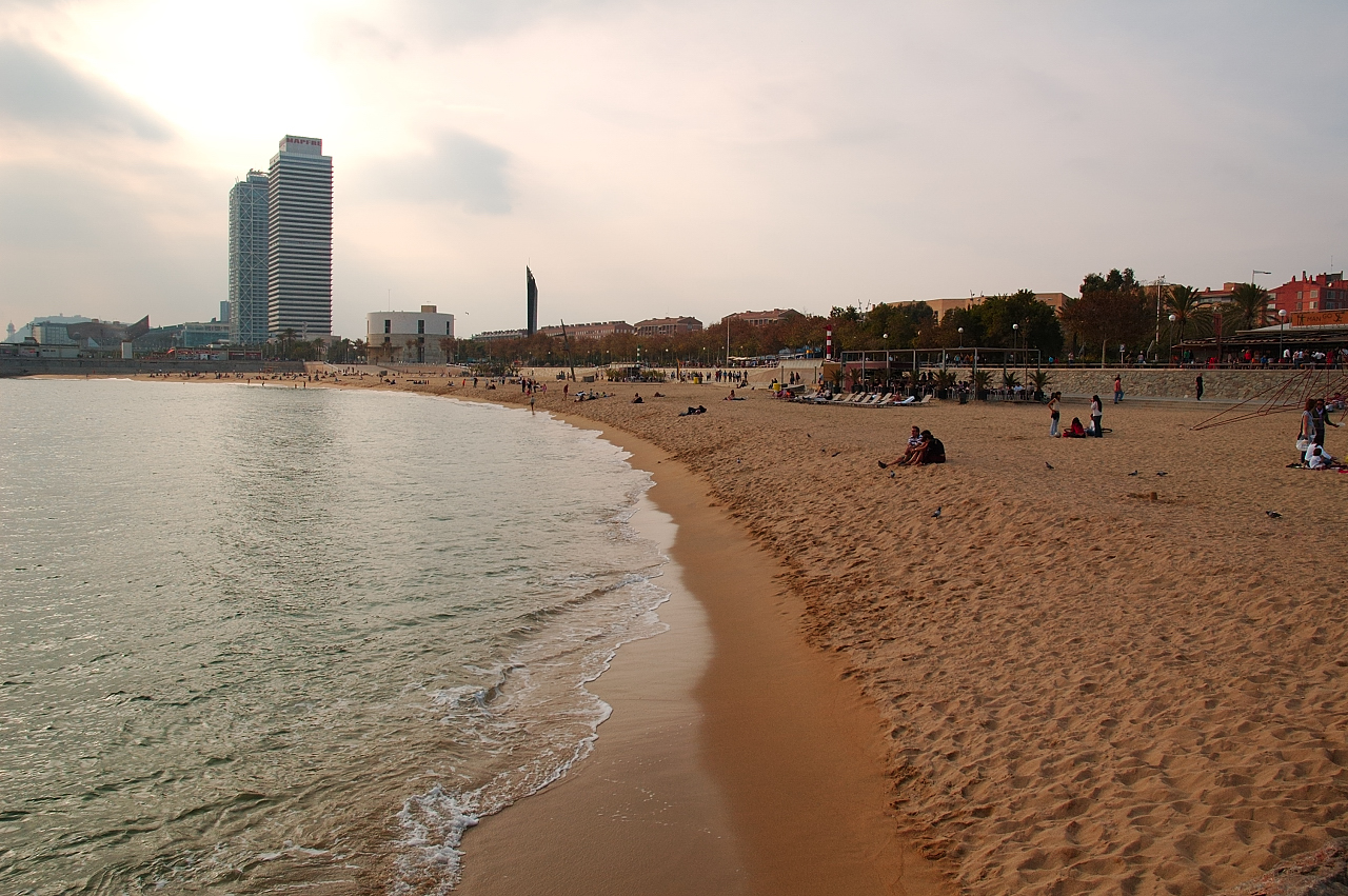 Barcelona Beach near Hotel Arts