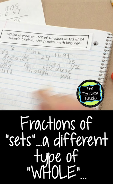 Teaching fractions can be overwhelming but I hope this post helps you see how students can work to develop deep fraction understanding, explain their math thinking and practice critiquing reasoning, look for fraction misconceptions, and have some fraction fun along the way! Using hands on fractions activities and math reasoning about fractions is critical.  fraction printables, fraction unit, fraction lessons, fraction worksheets, fraction activities
