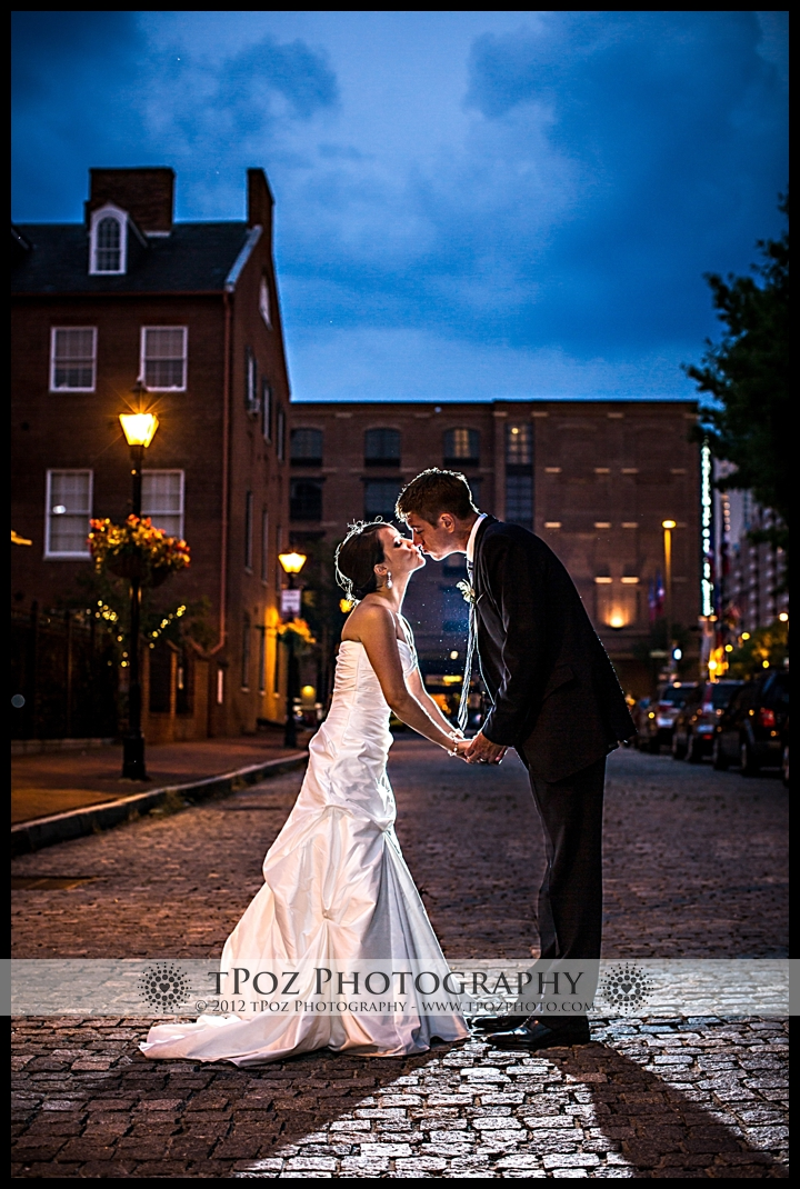 1840's Ballroom Wedding Sunset Bridal Photo