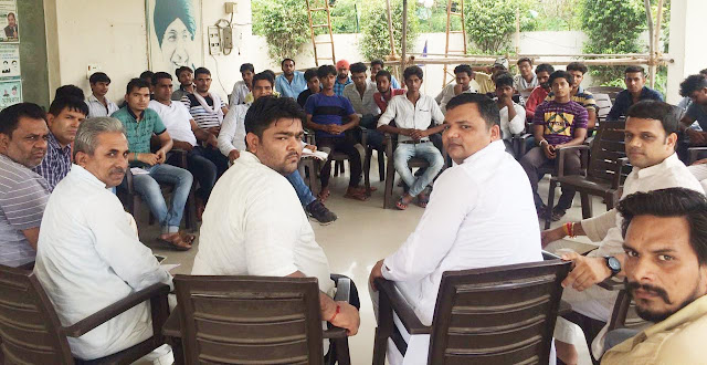 INSO Incharge handed responsibility for Youth Rights Day rally in Kaithal on August 5