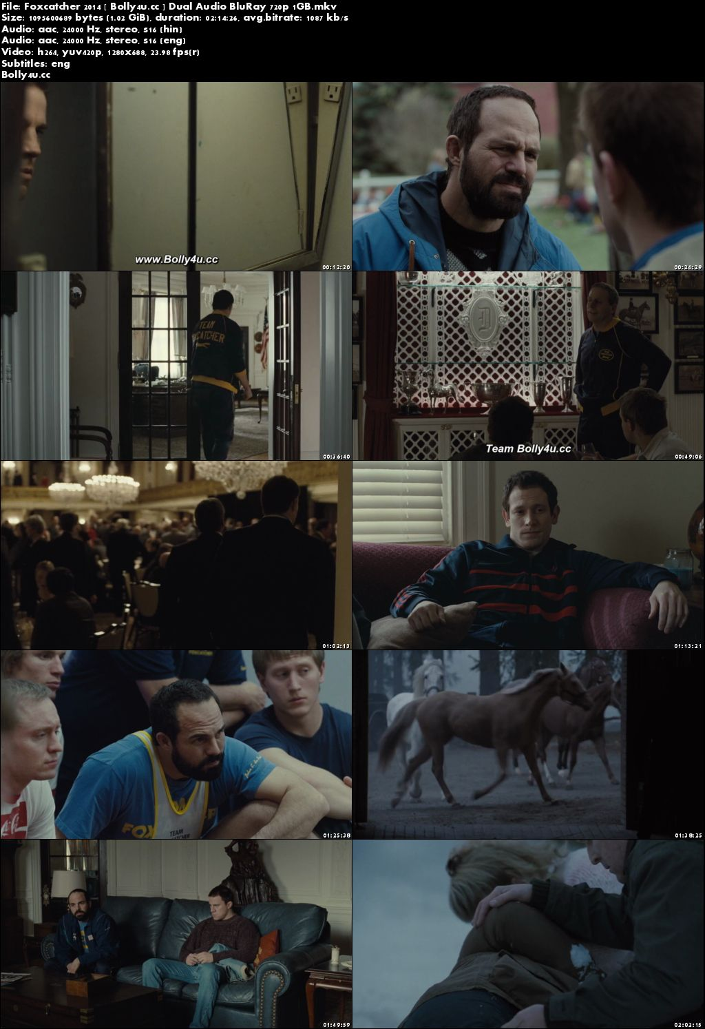 Foxcatcher 2014 BluRay 400Mb Hindi Dual Audio 480p Download