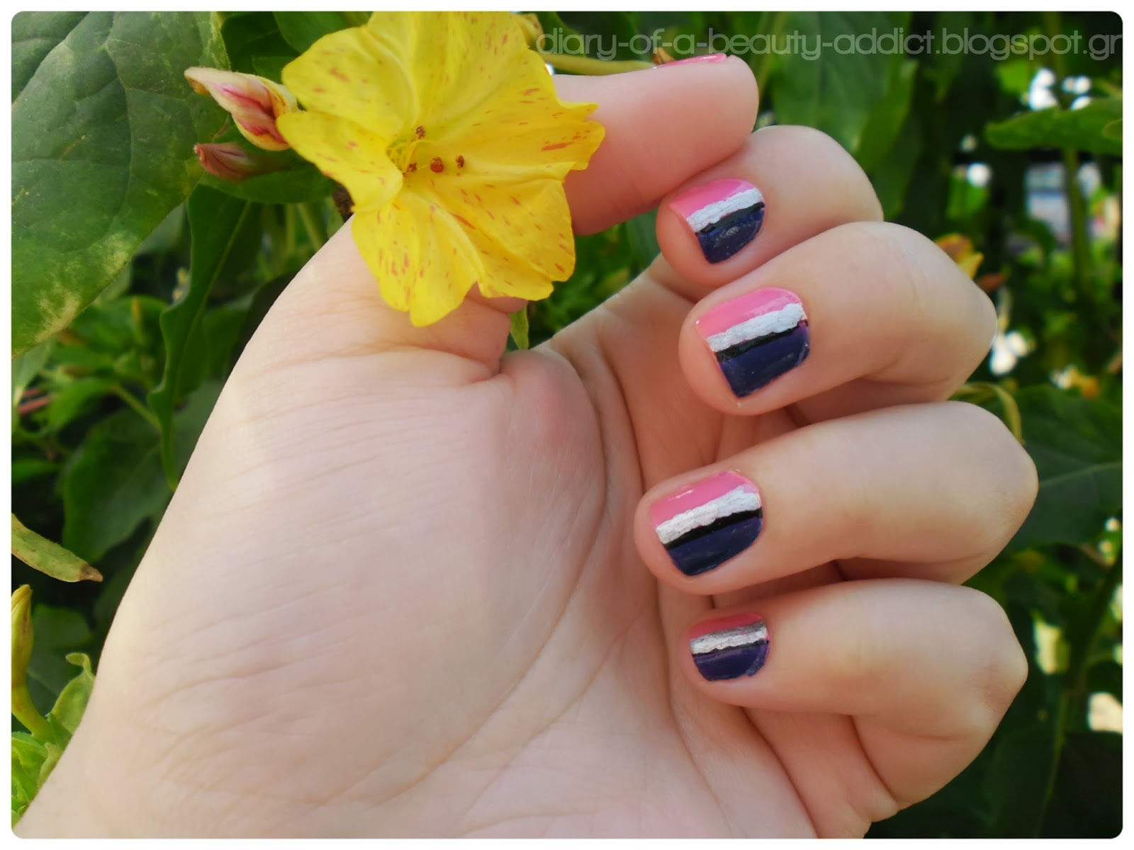 Fuchsia and Purple Nails