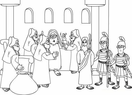 El Renuevo De Jehova: Jesus ante Pilato - Imagenes para colorear ...