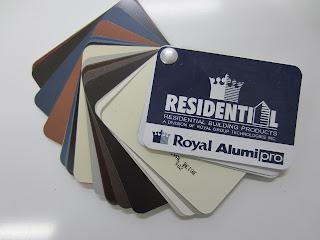 Residential Royal aluminum colours