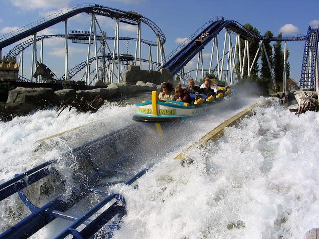 Poseidon roller coaster, Europa Park in Rust, Germany