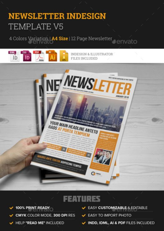 4. Newsletter Indesign Template v5