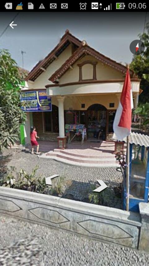 Desa Kwasen Kecamatan Kesesi Pekalongan di Lihat dari Google Earth