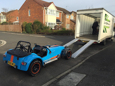 The Caterham collection van - my R500's second home!